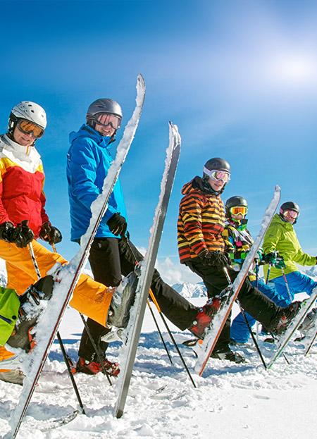 Clases de esquí para grupos